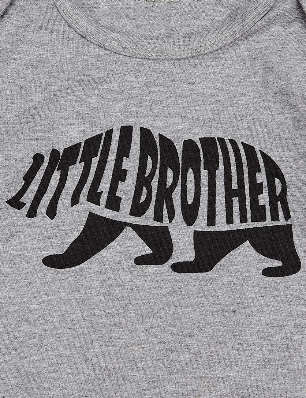 Toddler Infant Boys Clothes Long Sleeve Bear T-Shirt Big Brother Letter Print Children White Top
