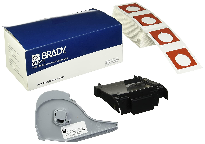 W BRADY M71EP-169-593 Label Cartridge,White,1-4//5 In