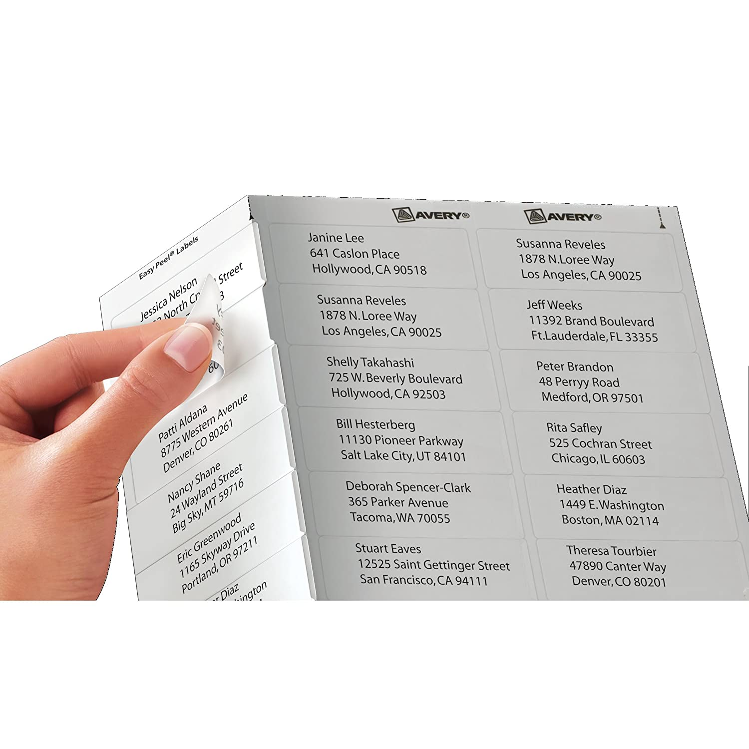 Amazon Avery Clear Easy Peel Return Address Labels for Laser – Large Mailing Labels