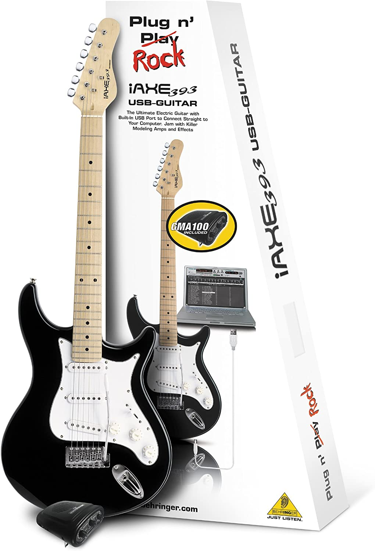 Behringer Guitarra ELÉCTRICA IAXE393-BK USB-Guitar: Amazon.es ...