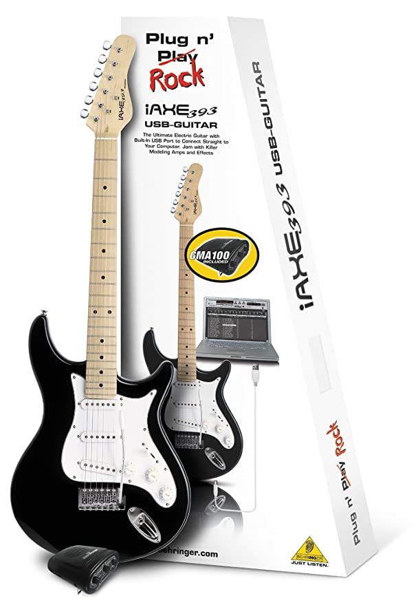 GUITARRA ELÉCTRICA BEHRINGER IAXE393-BK USB-GUITAR: Amazon.es: Instrumentos musicales