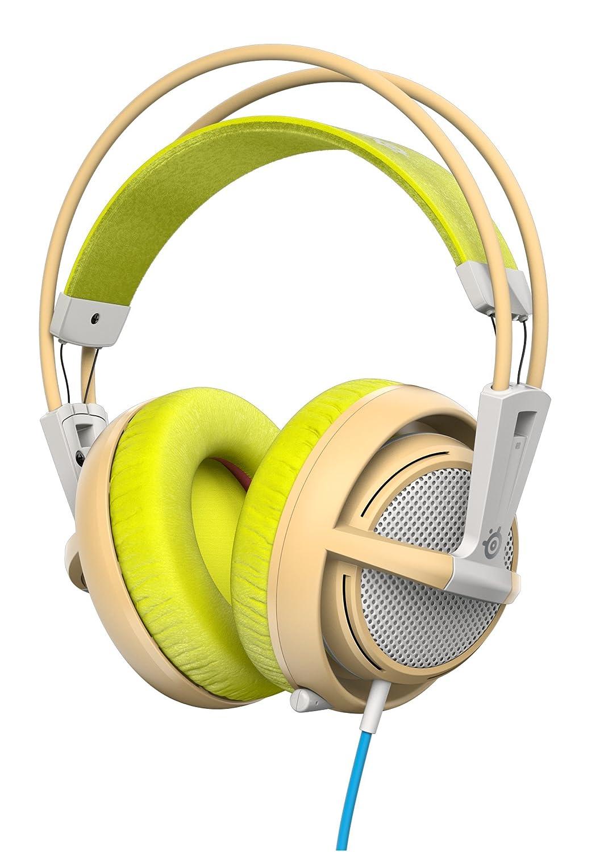 SteelSeries Siberia 200 - Auriculares para Juego, micrófono retráctil, gestión de Software, (PC/Mac/Playstation/Móvil), Verde Gaia