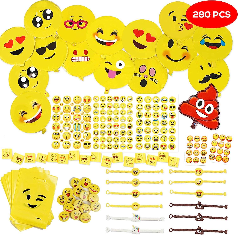 288 Emoji Smiley Jouets Enfants Faveurs De Fête - Fournitures Anniversaire Cadeau Sac De Fête Remplissage, Jouets Mix Pinata Fillers Kit Prix De Carnaval, Pinata Anniversaire Cadeaux, Bonbonniere