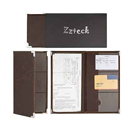 Amazon Com Zzteck Car Registration Holder For Insurance Card