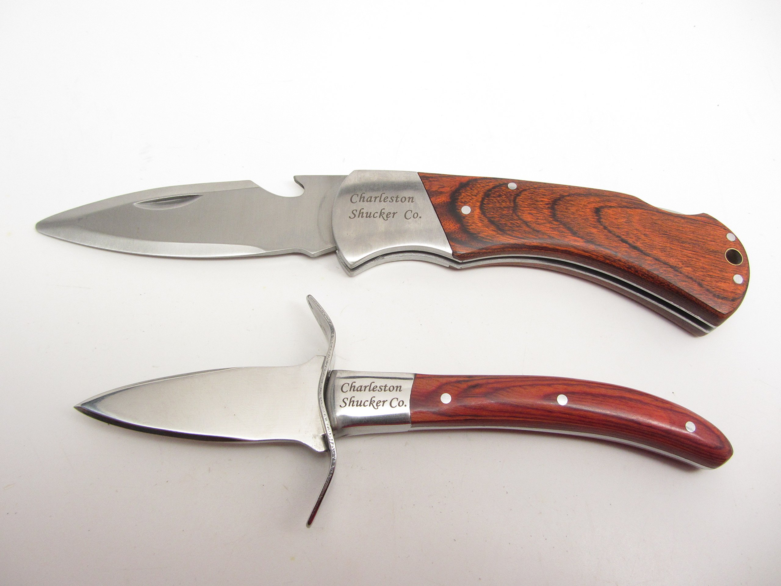 Charleston Shucker Company Stowaway & Palmetto Knife w/ Built-In Bottle Opener Knives Variety Pack by UJ Ramelson Co (Image #2)