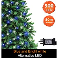500 Bright White Mains Powered Green Cable