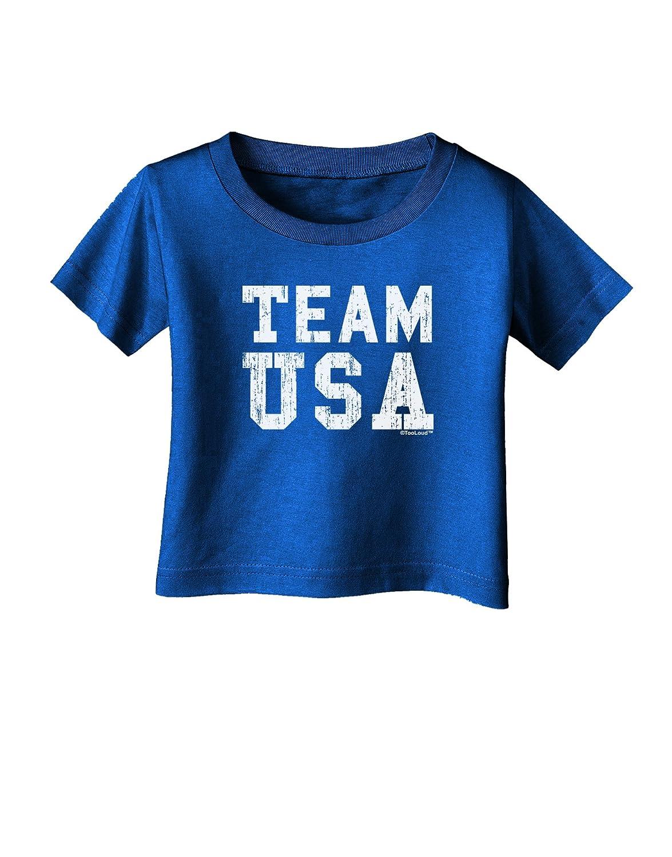 TooLoud Team USA Distressed Text Infant T-Shirt Dark