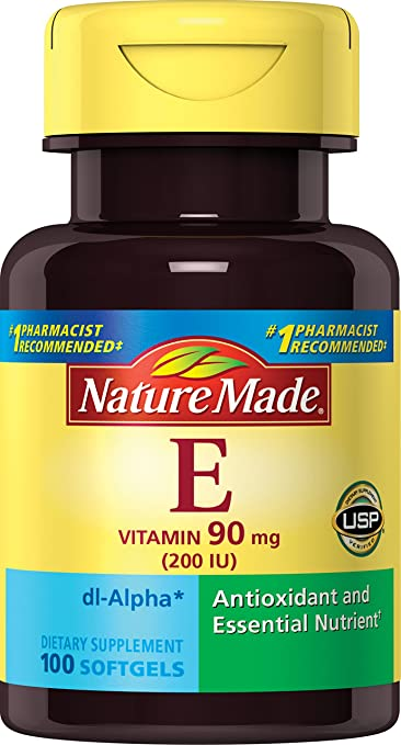 Nature Made Vitamin E 200 IU (dl-Alpha) Softgels, 100 Ct