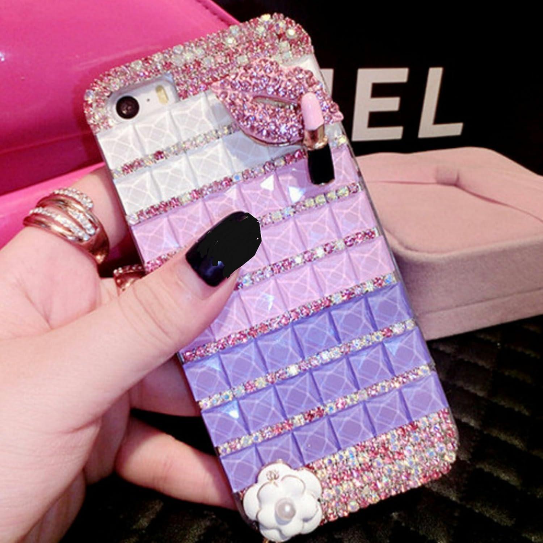 purple case & lips