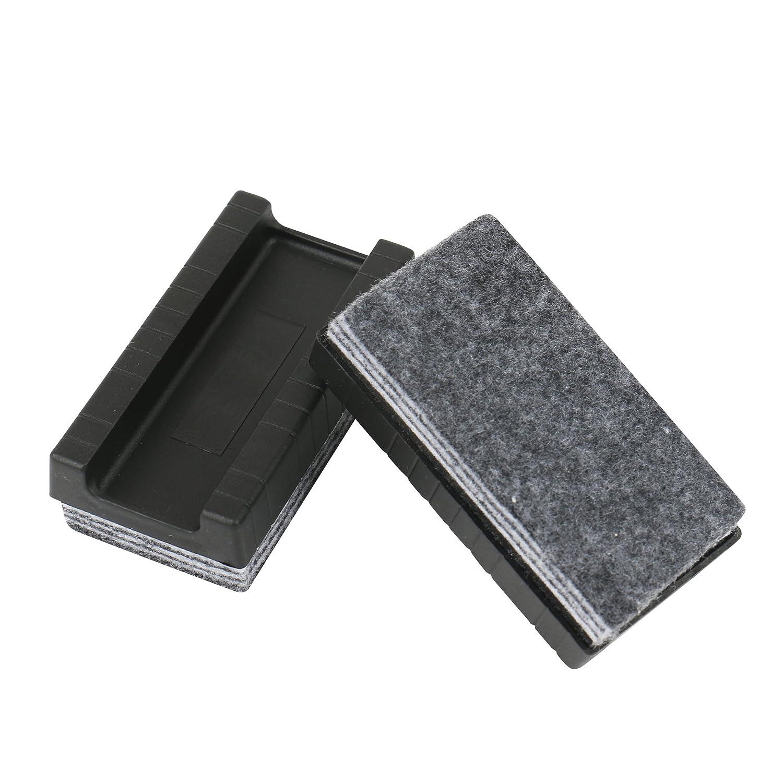 93 X 48 mm Per la pulizia a secco Tavola grande di Amathings Confezione da 2 spugne per lavagna bianca con 6 strati di pulizia Per il distacco individuale Multistrato in grigio Dimensioni