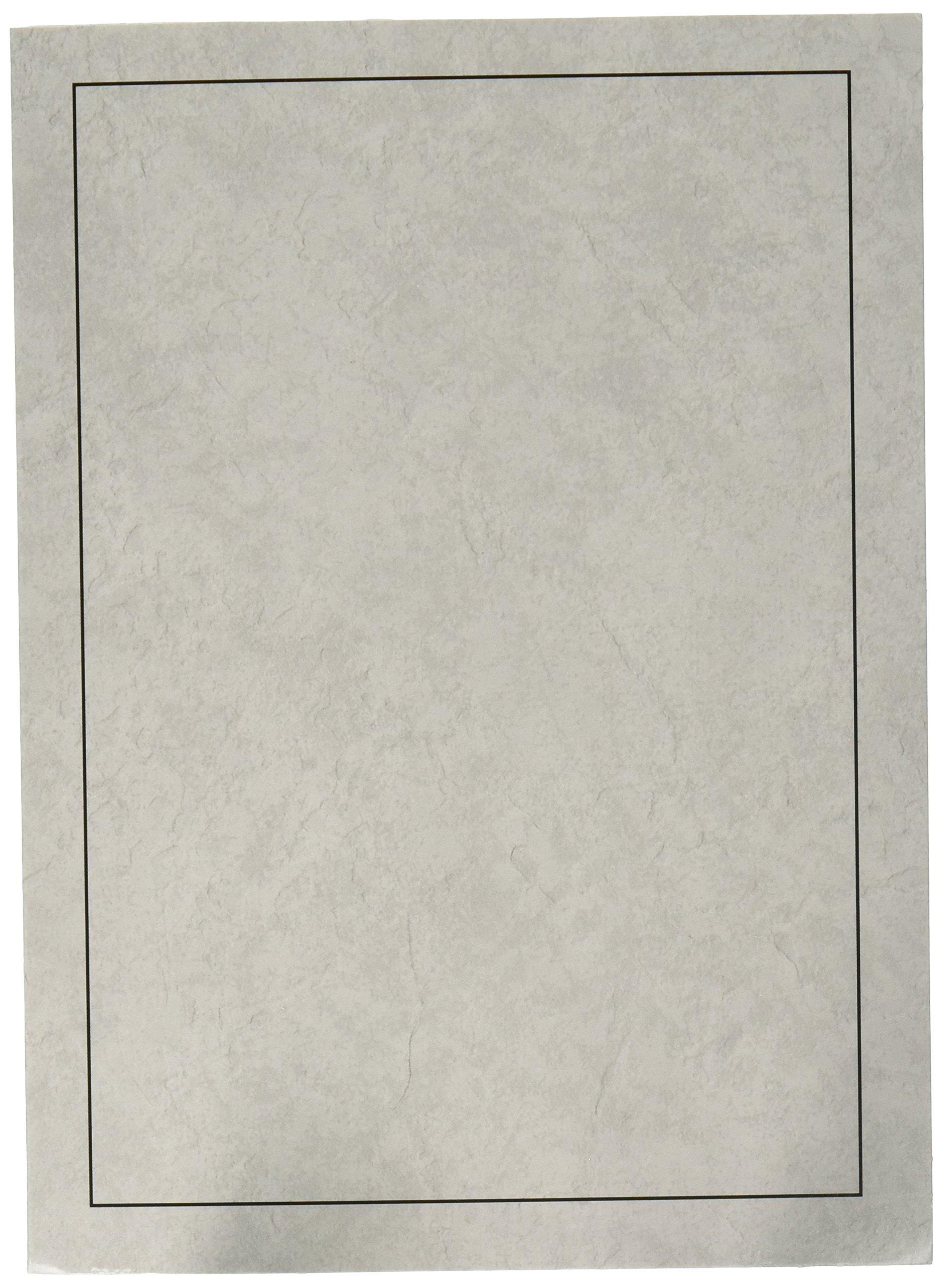 Cardboard Photo Folder for a 5x7 Photo (Pack 0f 100) Light Gray
