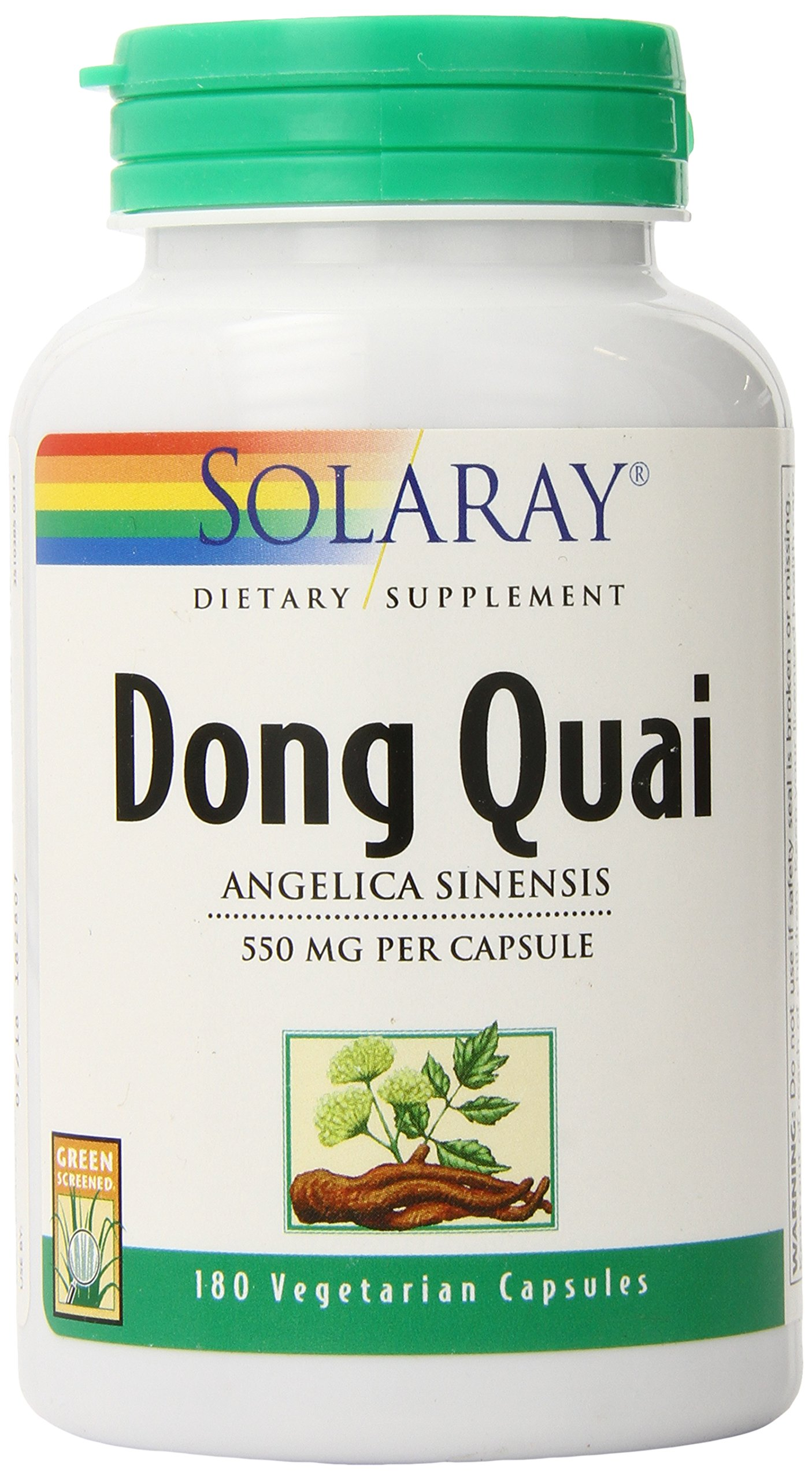 Solaray Dong Quai Capsules, 550 mg, 180 Count