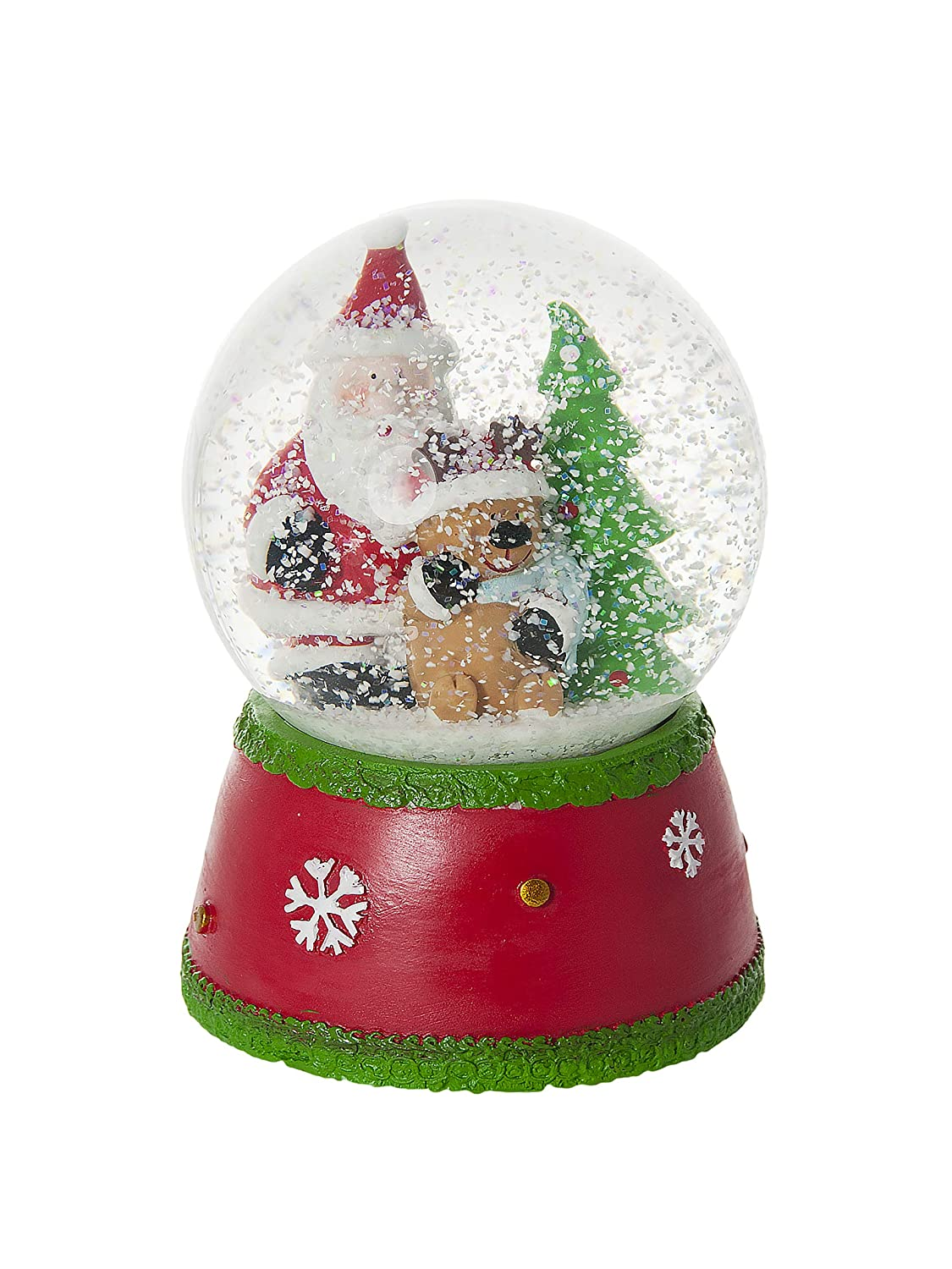 Christmas Snow Globe Music Box Rudolf the Red Nose Reindeer Decoration and Gift for Kids and Adults