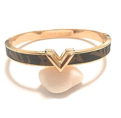 Louis Vuitton lujo de la mujer Cuff brazalete oro pulseras ...