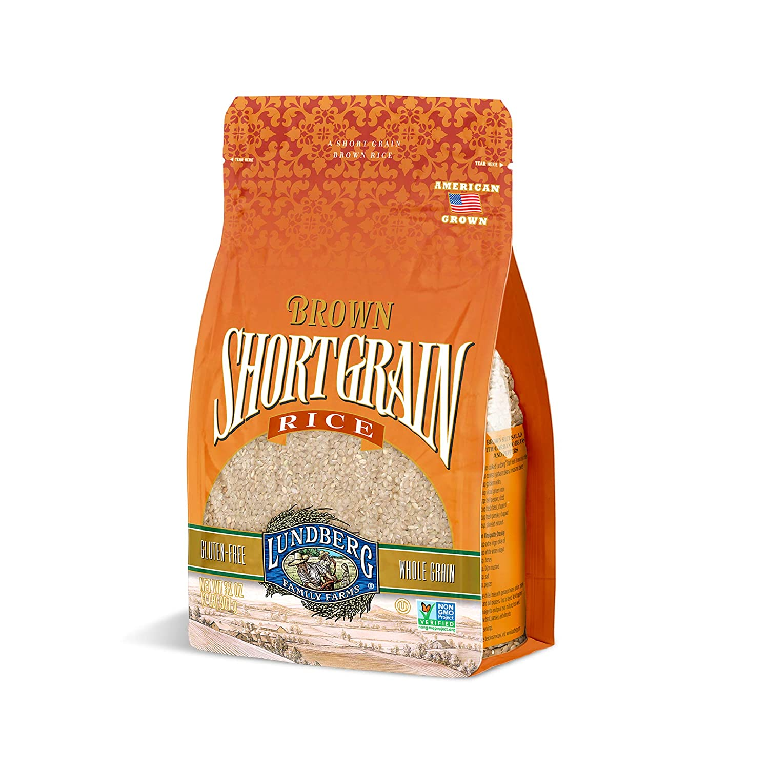 Lundberg Farms Eco-Fr Rice, Short Brown, 2-Pound (Pack of 6)