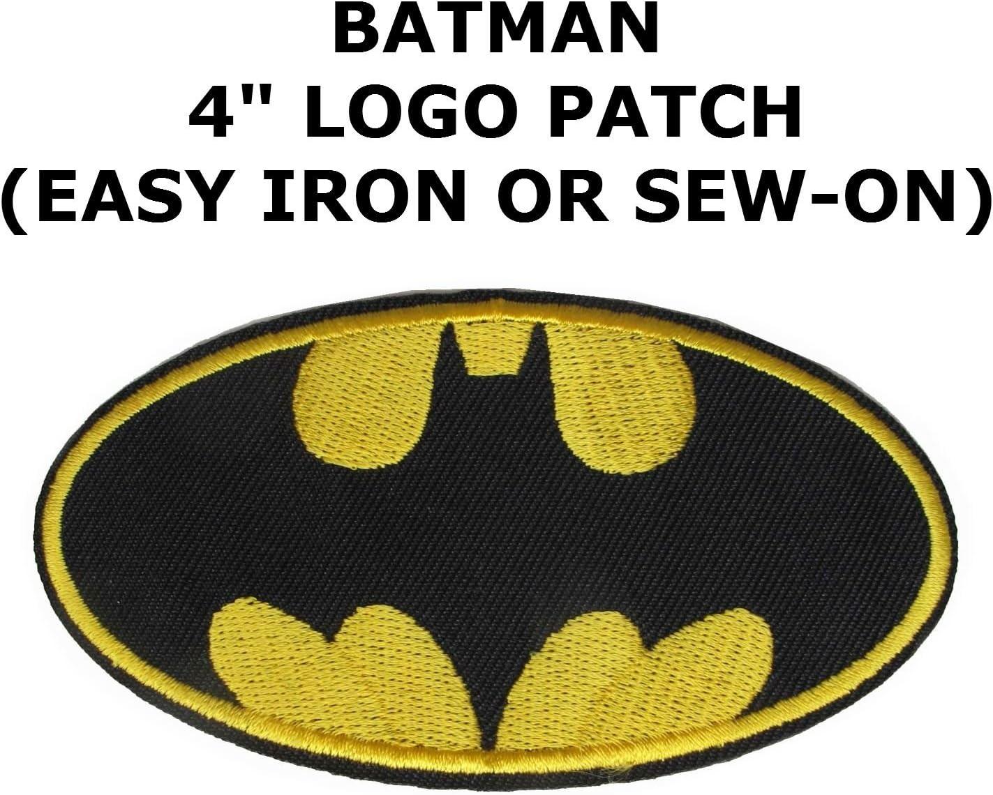 Athena Super Heros Dc Batman Bat Logo Facile Fer A Repasser Ou A