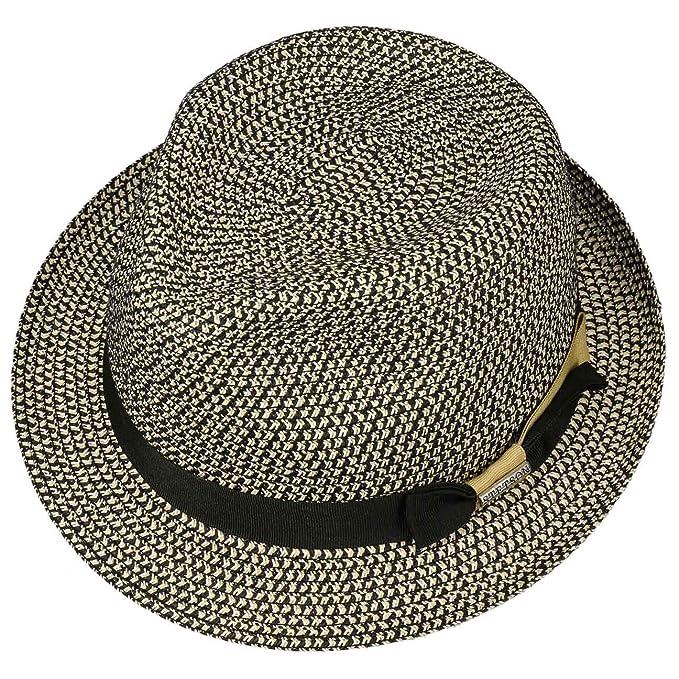 c41175696 Stetson Contrast Colour Toyo Trilby Hat Women/Men | Beach Summer with  Grosgrain Band Spring-Summer