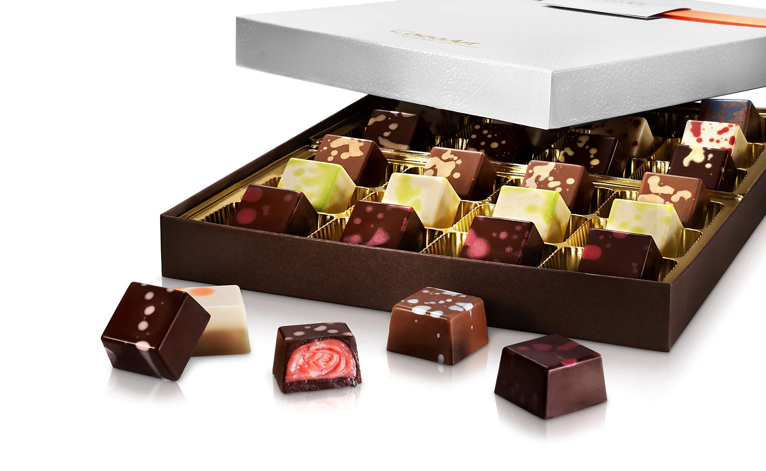 CocoArt Gourmet Artisan Chocolate Truffle Assortment Gift Box for All Occasion, 24 Pieces