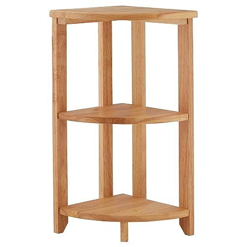 Premier Housewares Corner Shelf Unit 3 Tier   66 X 30 X 30 Cm,
