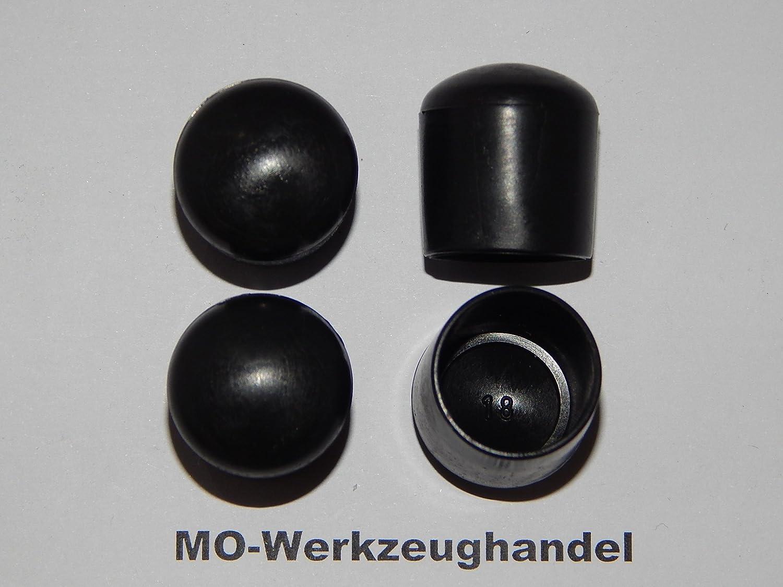 16 St/ück Stuhlbeinkappen Innendurchmesser: 32 mm Rohrkappen Rund aus Kunststoff Gleitkappe zum Aufstecken Farbe: Schwarz