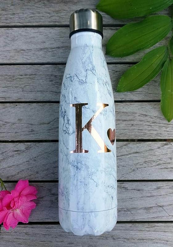 Botella de agua de mármol regalo con personalización en oro rosa ...
