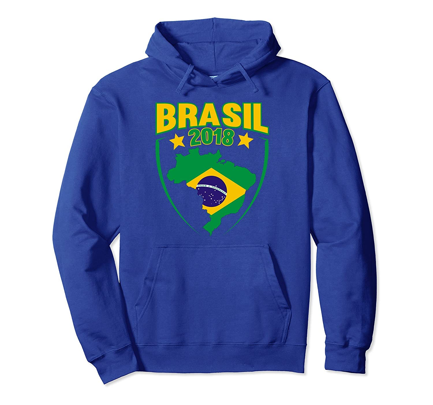 Brasil 2018 Soccer Football Brazil Men Women Hoodie Alottee Gift
