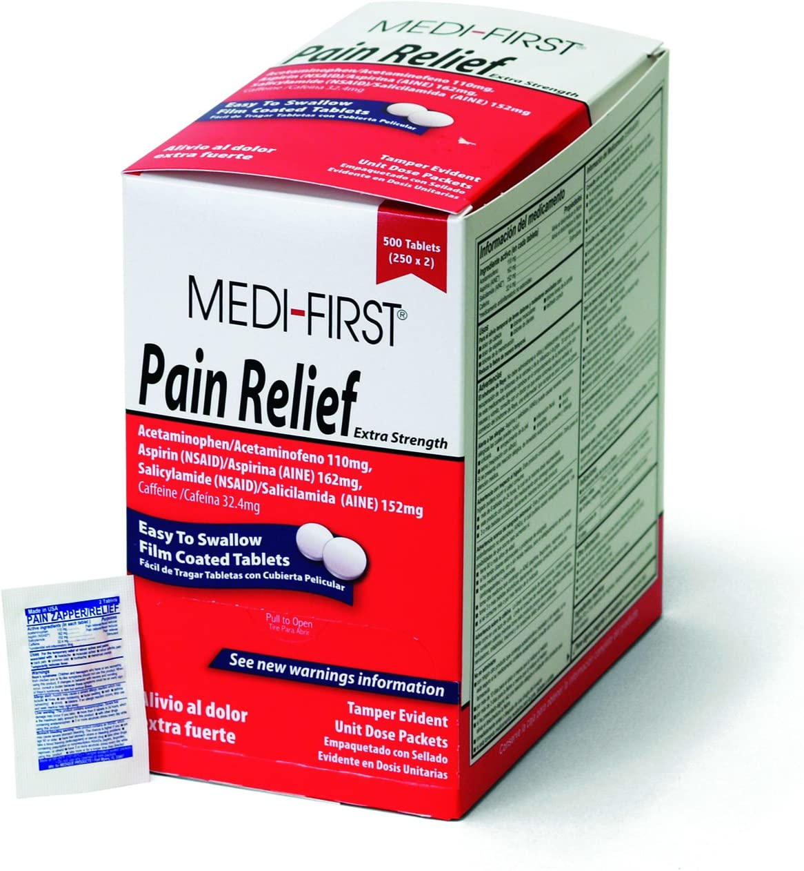 Medique 500 Per Box 81113 Medi-First Pain Relief Tablets