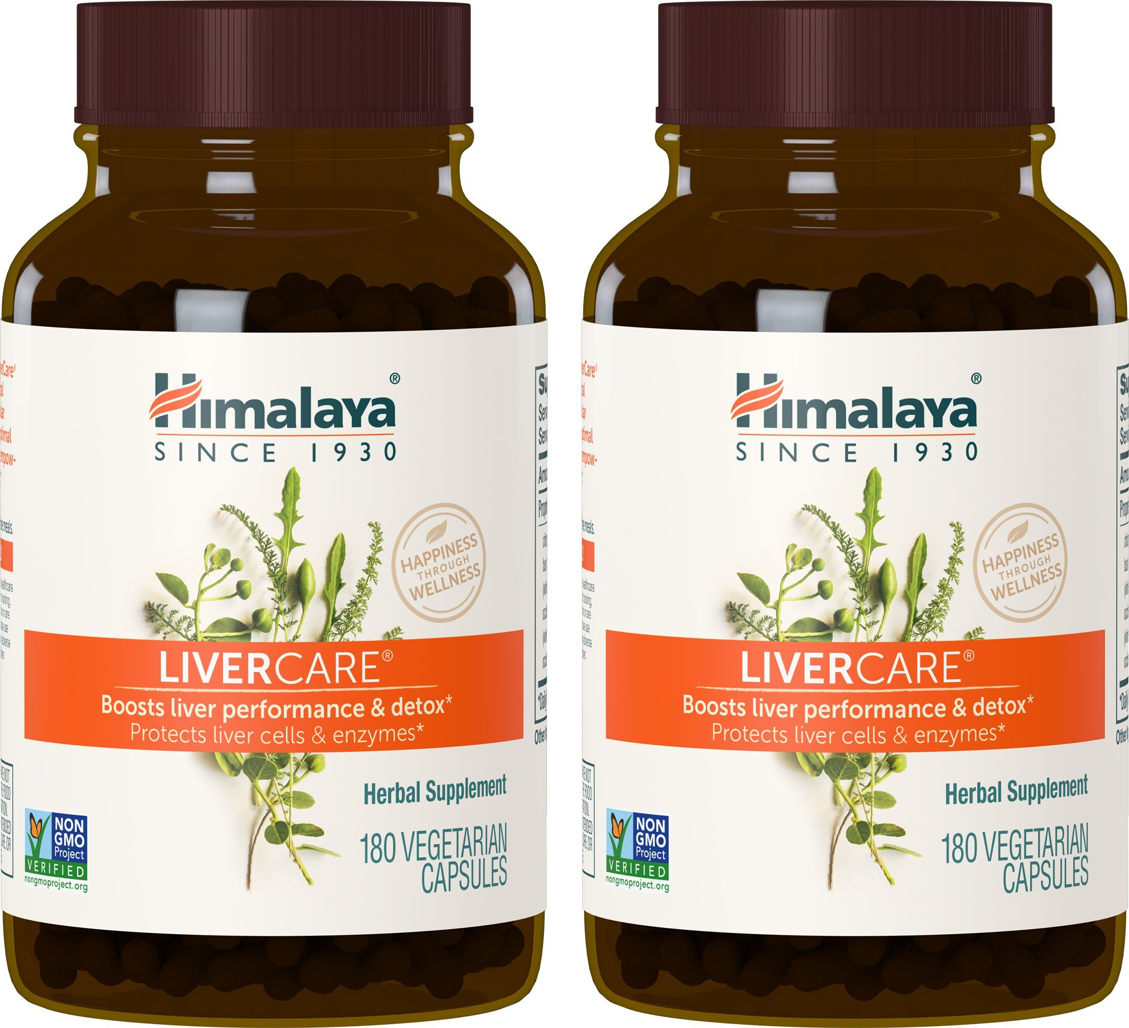 Himalaya LiverCare (2 Pack) 180 VCaps for Liver Detox, Liver Cleanse and Regeneration 375mg by Himalaya Herbal Healthcare (Image #1)