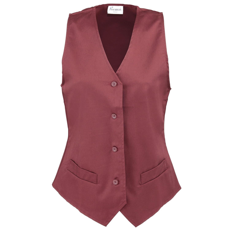 Premier Womens/Ladies Hospitality Waistcoat/Catering/Barwear