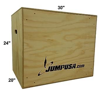 Amazon Com Fully Assembled 3 In 1 Plyometric Jump Plyo Box 20 24