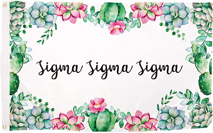 Sigma Sigma Sigma Floral Flag 3/' x 5/' NEW!