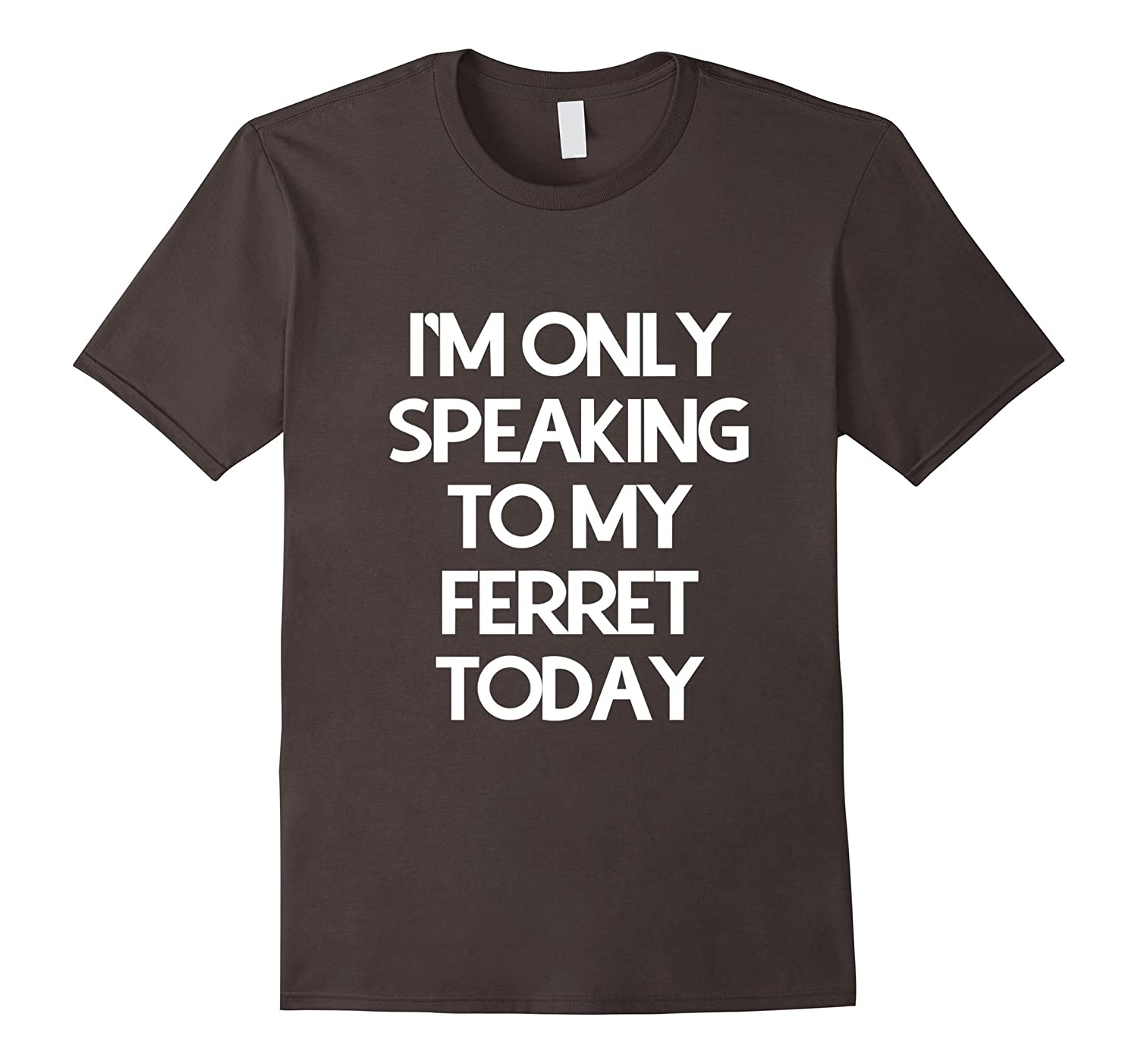 Im only speaking to my ferret today shirt-RT