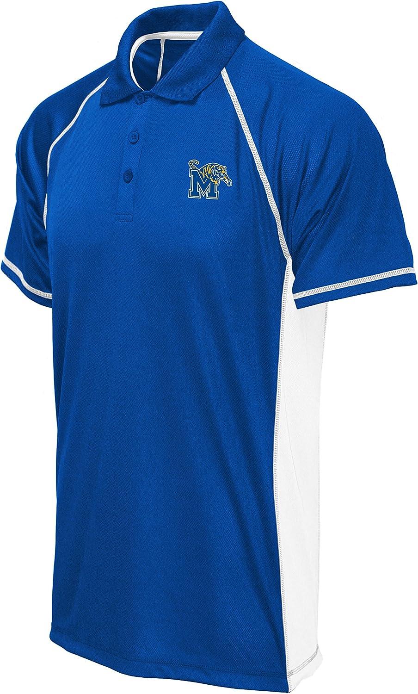 Old Varsity Brand NCAA Mens Big Mens Panel Poly Polo