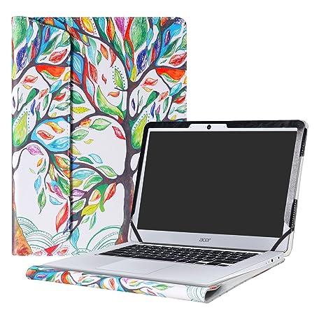 """Alapmk Diseñado Especialmente La Funda Protectora de Cuero de PU Para 14"""" Acer Chromebook 14"""