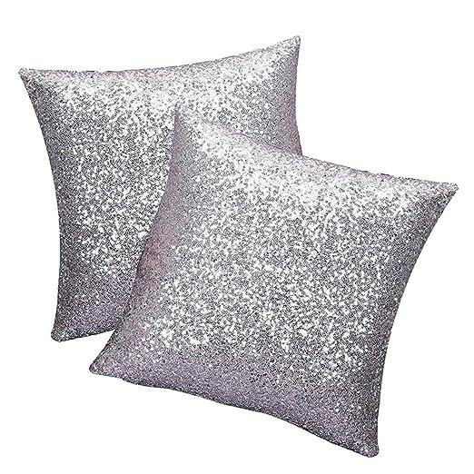 Teni® 2pcs cojín Glitter Lentejuelas funda de almohada Cafe ...