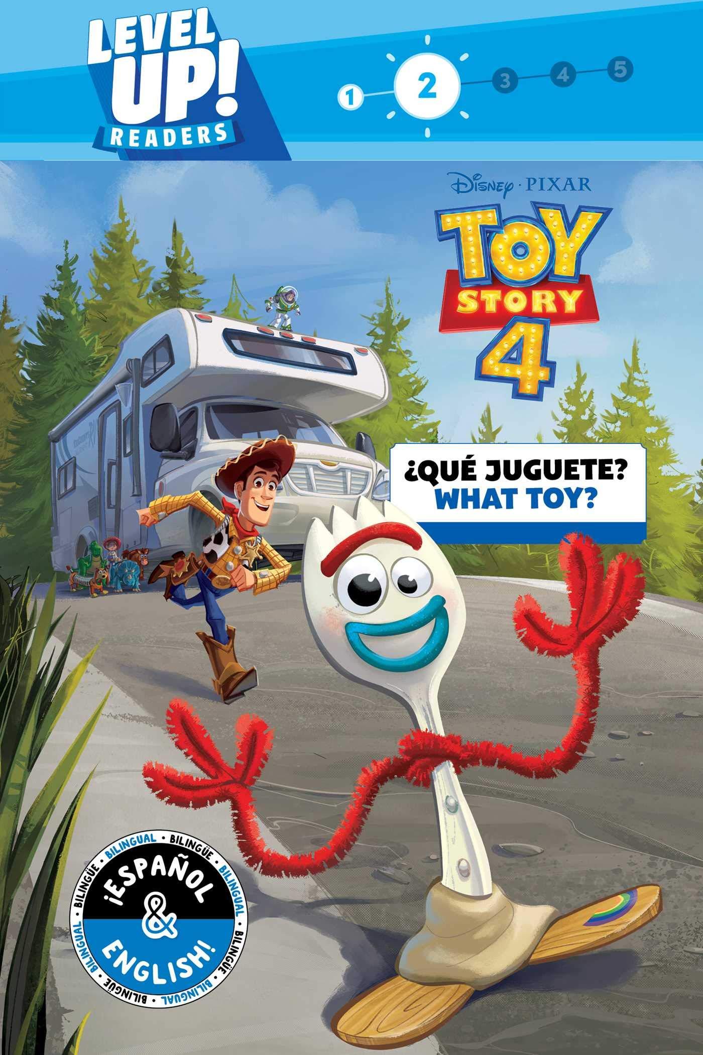 4746a33741122 ¿Qué juguete  (English-Spanish) (Disney Pixar Toy Story 4) (Level Up!  Readers) (Disney Bilingual) Paperback – August 6