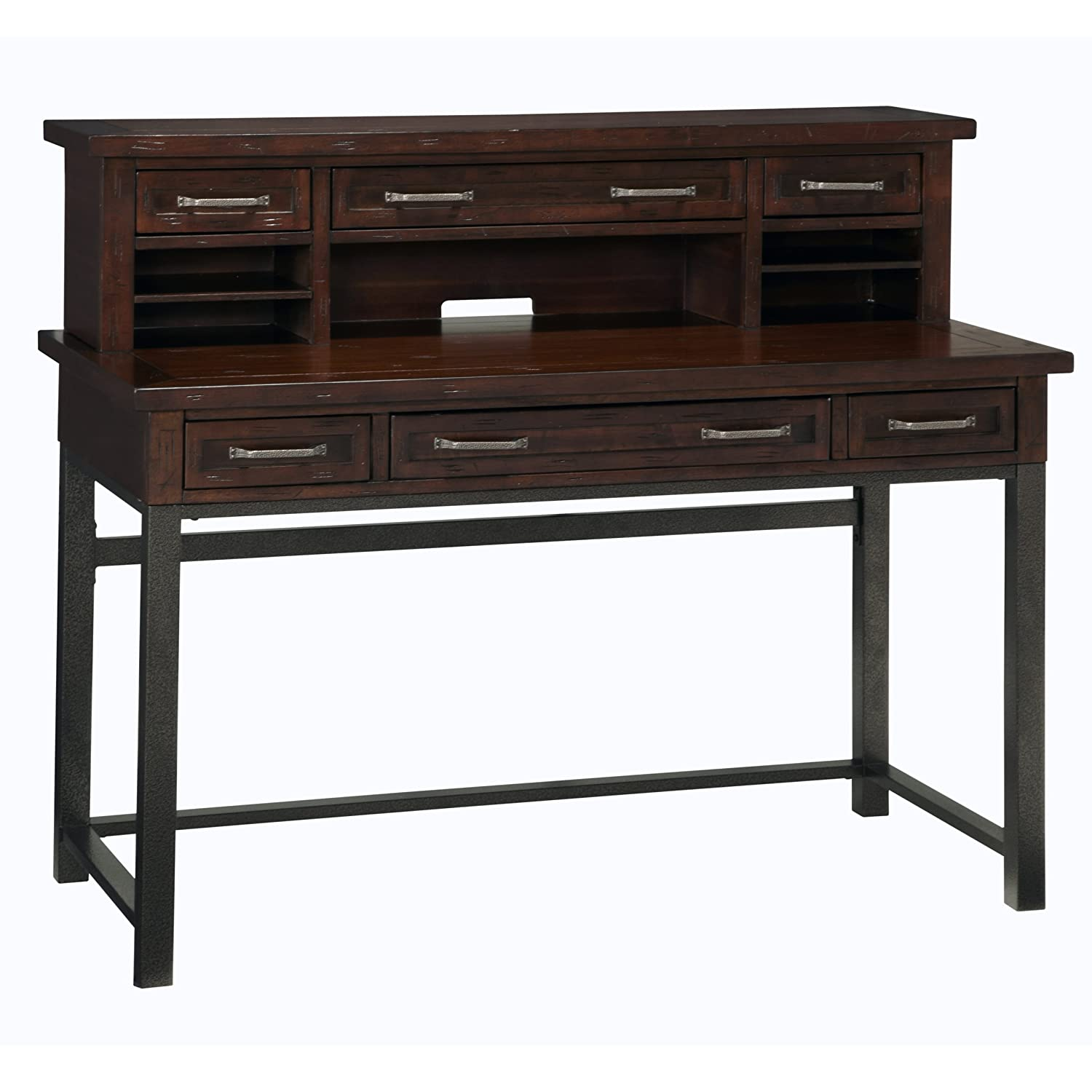 Amazon.com: Home Styles Cabin Creek Executive Desk And Hutch: Kitchen U0026  Dining
