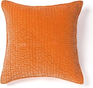 Be-You-tiful Home Ethan Velvet Papaya Euro Sham, Orange