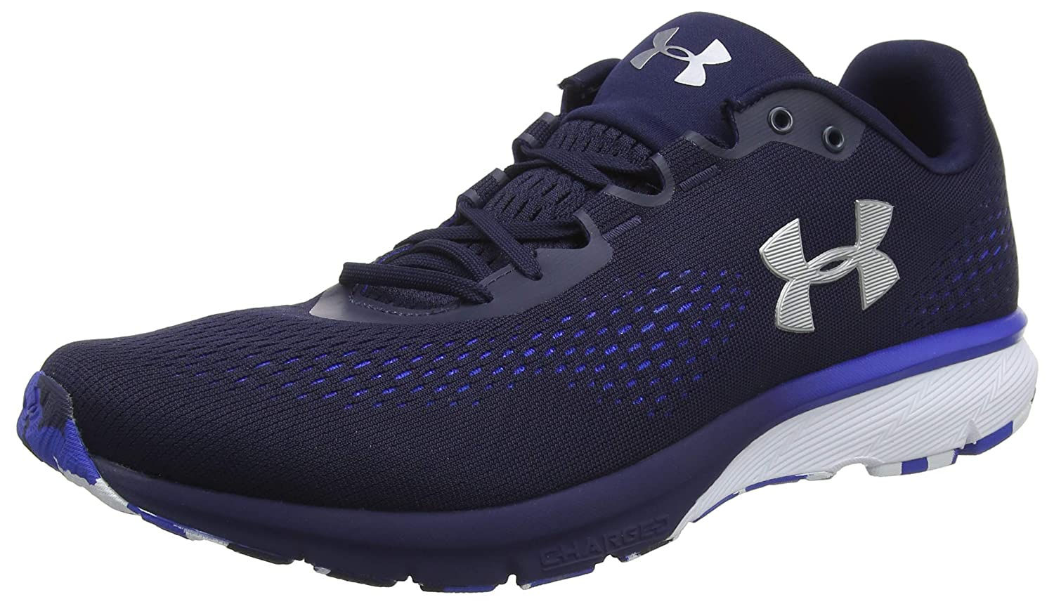 Under Armour UA Charged Spark, Zapatillas de Running para Hombre 44/45 EU|Azul (Midnight Navy/Team Royal/Metallic Silver)