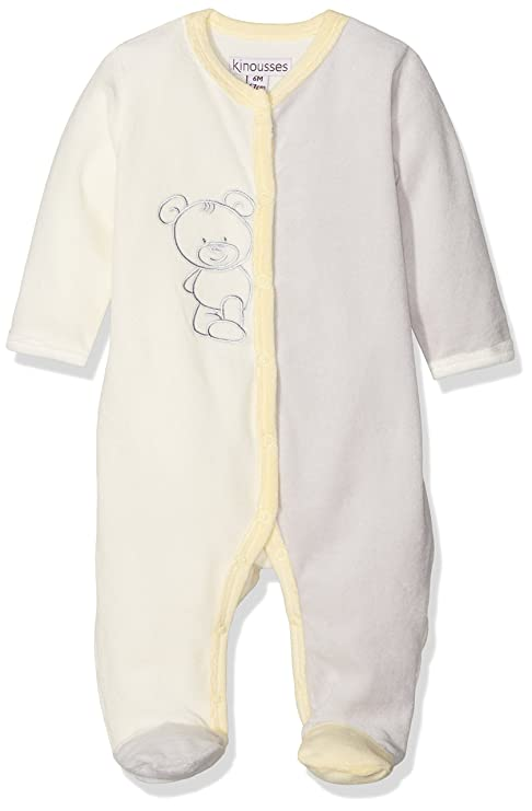 Kinousses pijama para bebé pequeño oso caché 1 Meses Color Blanco