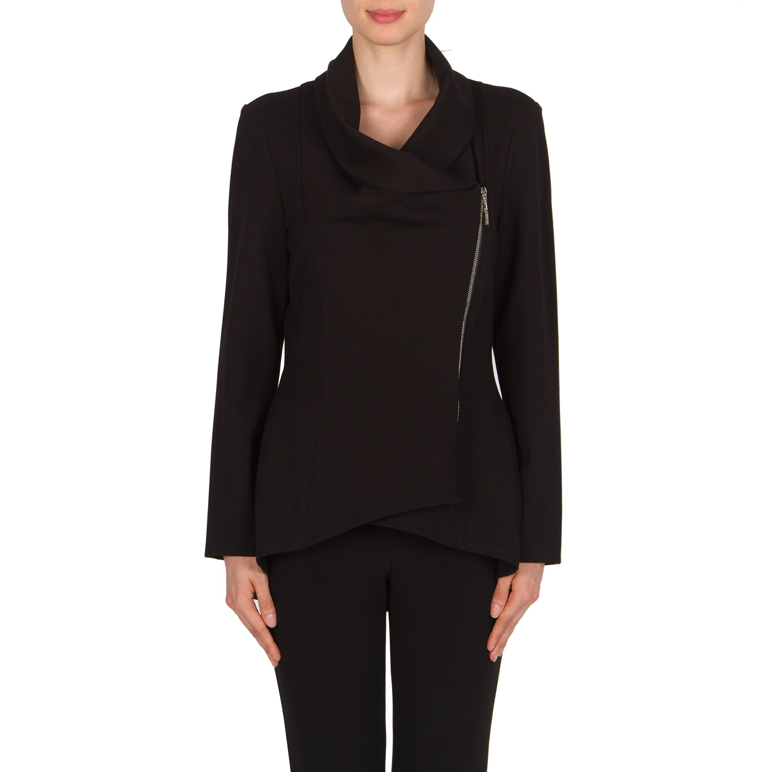 Joseph Ribkoff Tailored Black Peacoat Jacket Style 174306 Size 10 by Joseph Ribkoff