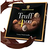 Chocolate truffles assorted dusted with cacao, Oskar le Grand luxury gift box.