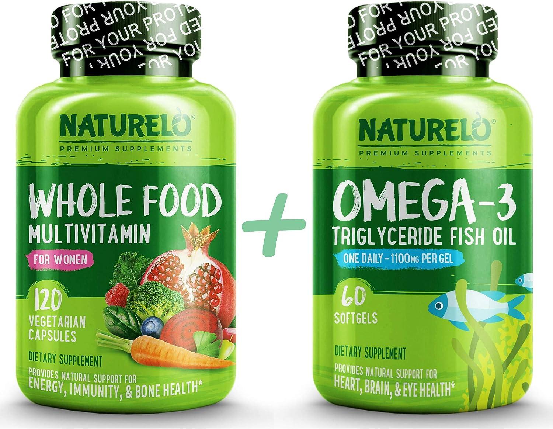 Bundle: Whole Food Multivitamin for Women + Omega-3 Fish Oil