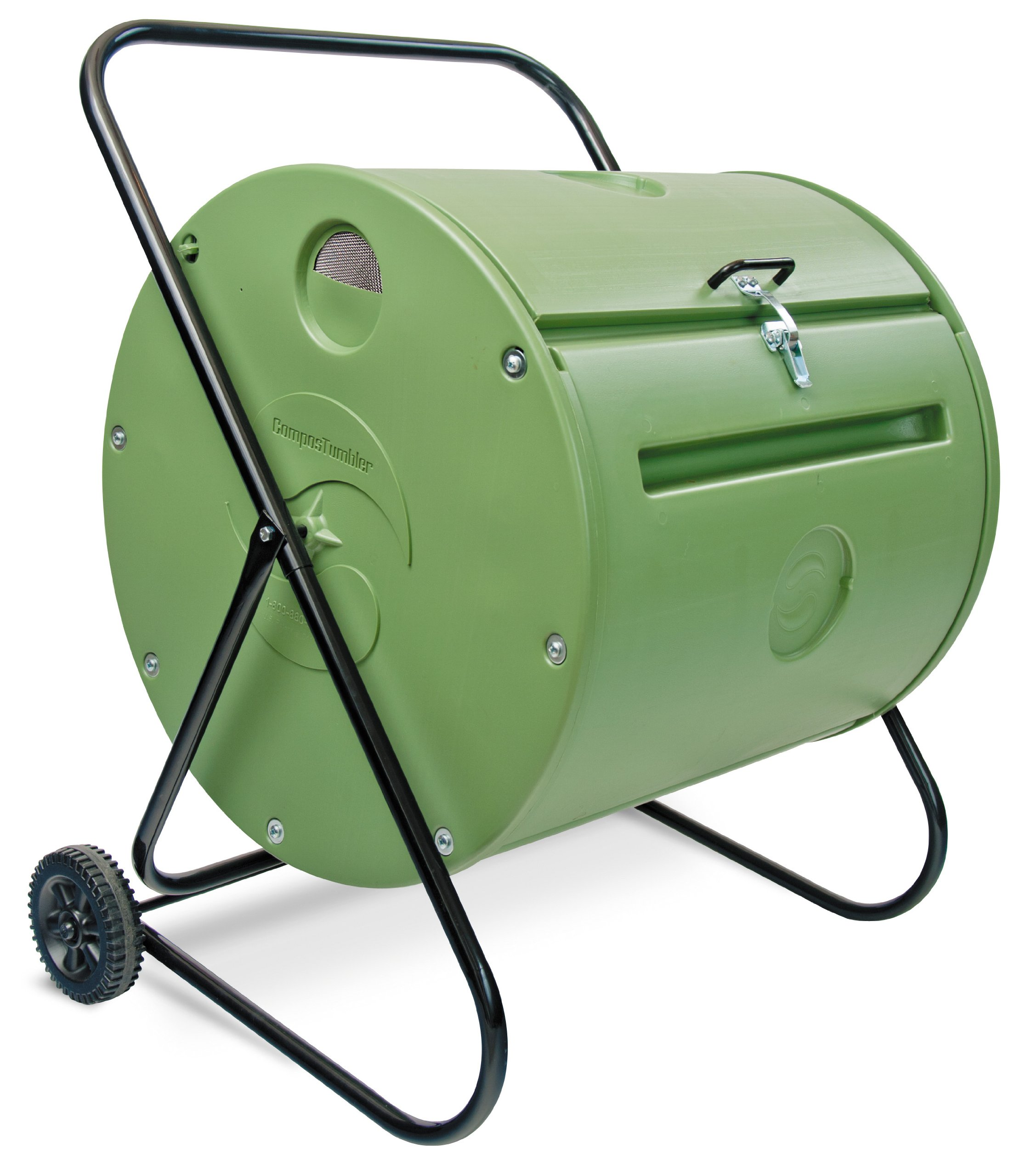 Mantis Back Porch ComposTumbler CT08002 - Engineered to Make Compost Fast - Holds 37 Gallons - Low Cost Per Gallon - Mobile Rolls Direct to the Garden by Mantis