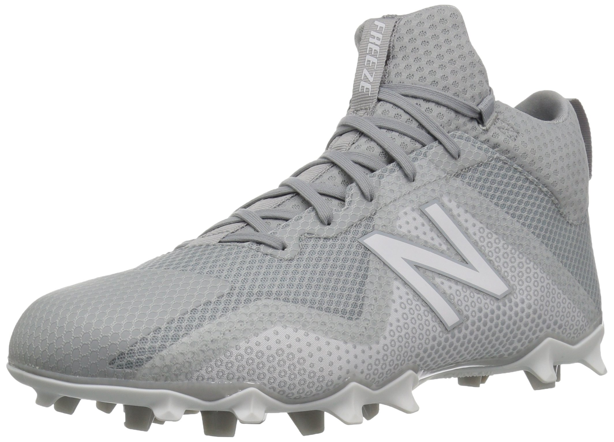 New Balance Men's Freeze v1 Agility Lacrosse Shoe, Grey/White, 10.5 2E US by New Balance