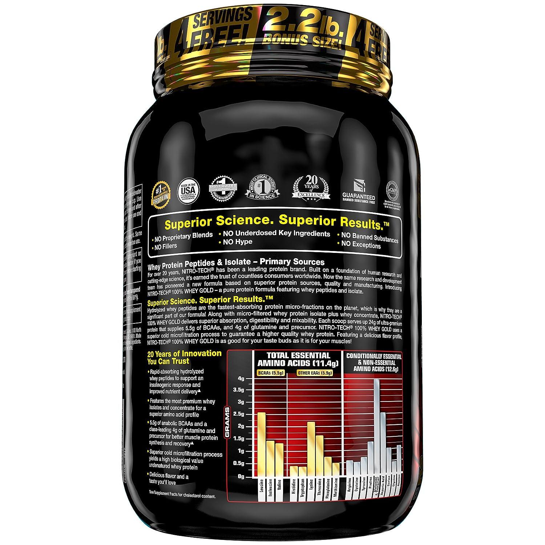 MUSCLETECH Nitro Tech 100% Whey Gold Dulce Leche - 9979 gr: Amazon.es: Salud y cuidado personal