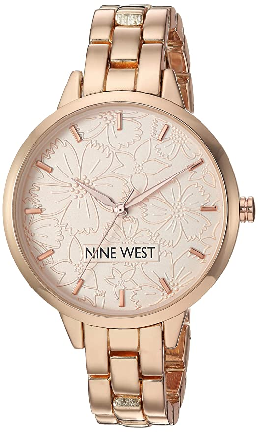 Amazon.com: Nine West Womens NW/2226RGRG Rose Gold-Tone Bracelet Watch: Watches