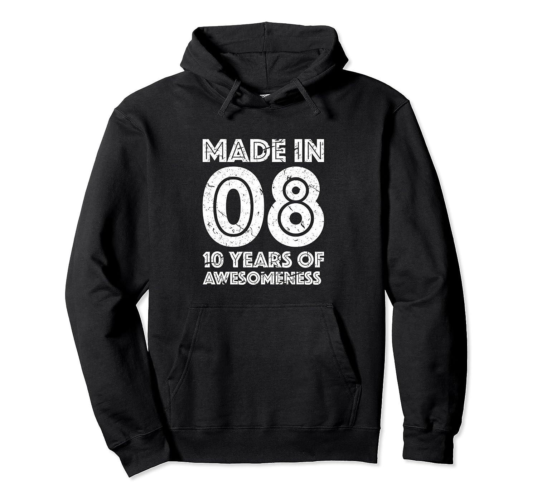 10th Birthday Hoodie Girl Boy Gift Age 10 Ten Year Old-TH
