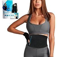 Sports Laboratory Midjeträningsbälte för kvinnor och män, midjetrimmer och svettbälte, kroppsbantning och ryggstöd, en…