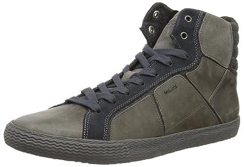 Geox U Smart K, Zapatillas Altas para Hombre, Gris-Grau (C0493GREY/